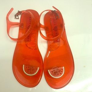 NWOT Katy Perry Watermelon Red Jellies Size 7.5
